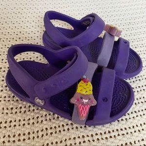 4/$15 Bundle Purple Croc Sandals